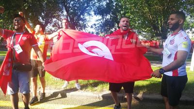 الجماهير التونسية تستقبل المنتخب في فولغوغراد