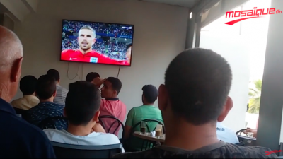 اجواء مباراة تونس و انقلترا بصفاقس