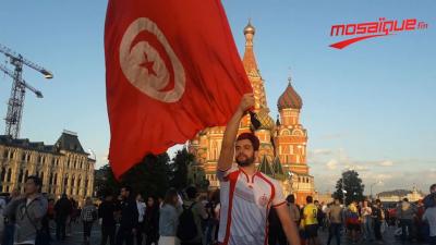 Les supporters Tunisiens se rassemblent dans la Place Rouge