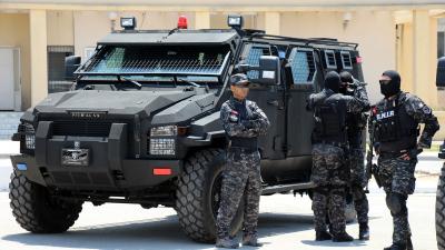 Réception de 9 blindés offerts par les USA