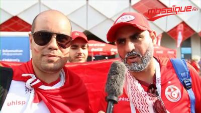 La réaction des supporters tunisiens au résultat du match face à la Belgique