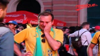 Déception des supporters Brésiliens  après la défaite de leur équipe