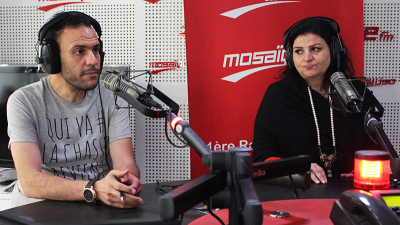Jehda Wahba et le Maestro Mohamed Lassoued dans Corniche