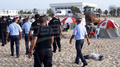 اشتباكات بين الأمن ومسوغي المظلات الشمسية بحلق الوادي