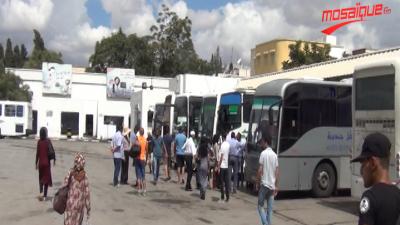 Moins de voyageurs que d'habitude à la Gare de Bab Saadoun