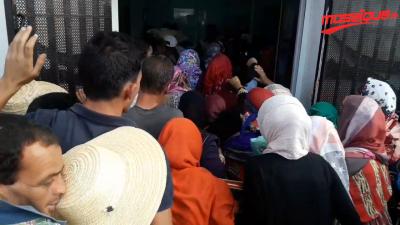 A cause de l'encombrement: pagaille au bureau de la poste à Bouhajla