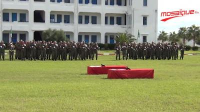 Cérémonie funéraire en l'honneur des martyrs Chahbi et Zouaghi