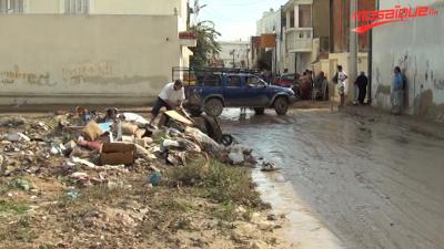 منازل في سيدي حسين تغمرها المياه
