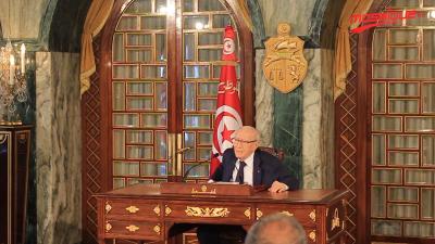 Conférence de presse du Président de la République, Beji Caied Essebsi au palais de Carthage