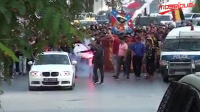 Les supporters de l'EST dans les rues de la capitale avant sa rencontre contre Al Ahly
