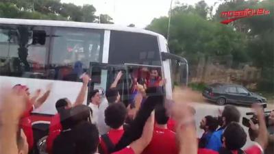 La délégation d'Al Ahly quitte l'hôtel pour rallier le stade de Radès