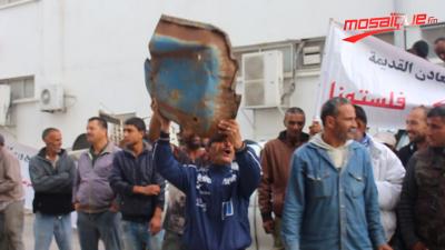 برباشة الفولاذ يحتجون أمام وزارة الصناعة