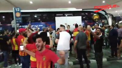 Les supporters de l'EST accueillent les joueurs à Dubai