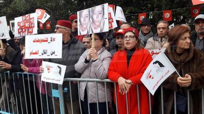 Le parti Destourier en sit-in devant le siège du congrès final de l'IVD