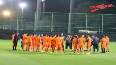Séance d'entrainement de l'EST avant le match face à Al AIn Club