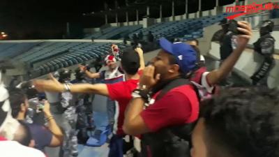 La joie des supporters Clubistes après la qualification