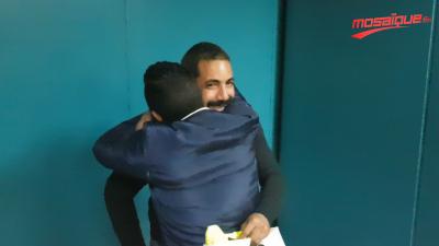 Arrivée des tunisiens après leur libération en Libye