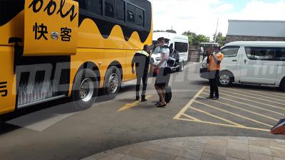 Kitwe: les joueurs du CSS quittent l'hôtel pour se rendre au stade