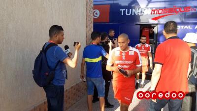Séance d'entraînement de l'EN avant le match contre Mali