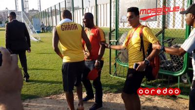 كان 2019 :  لاعبو المنتخب الغاني يستعدون للتمارين
