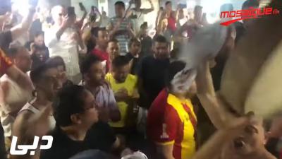 فرحة التونسيين بهدف المنتخب من مختلف أنحاء العالم