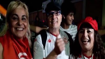 Le Caire: ambiance du match Tunisie-Madagascar