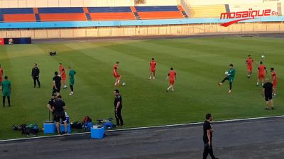 Dernière séance d'entraînement avant le match face au Sénégal