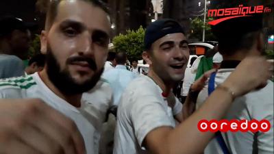 فرحة الجزائريين بالكأس الإفريقية في القاهرة