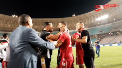 ماذا حصل بين اللاعبين اثر نهاية كأس تونس؟