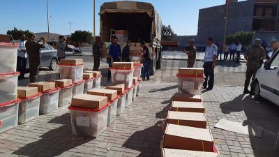 تطاوين : انطلاق توزيع صناديق الاقتراع