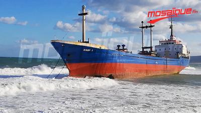 Bizerte : Un navire togolais échoue à la plage Rimel