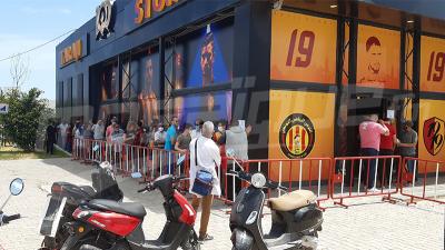 Taraji Store : Forte affluence des supporters de l'EST