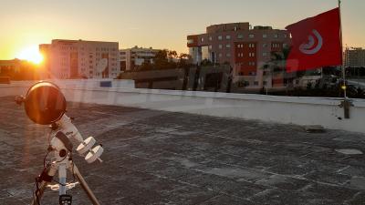 أجواء رصد هلال العيد في المعهد الوطني للرصد الجوي