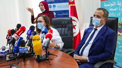 وزير الصحة وأعضاء اللجنة العلمية في ندوة صحفية حول مستجدات الوضع الصحي