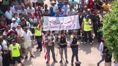 Hajeb Laâyoun: Les habitants protestent et revendiquant l'emploi et le développement