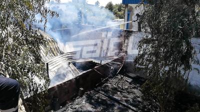 Bizerte: La protection civile maîtrise un incendie qui a touché de la ferraille