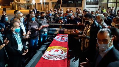جثمان الفقيد بوعلي المباركي يصل تونس