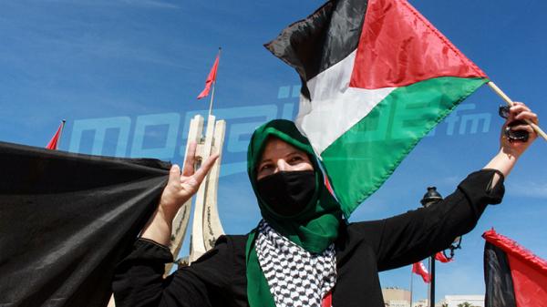 وقفة إحتجاجية بساحة القصبة مساندة للقضية الفلسطينية