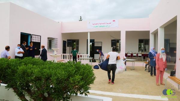 """L'école primaire """"Dachrét Ghmeyla à Siliana"""" rénovée grâce à  GATTEFOSSE méditerranée"""