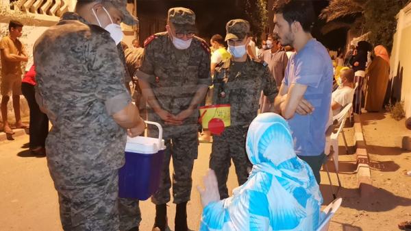 انطلاق حملة تلقيح أهالي تطاوين تحت اشراف وزارة الدفاع