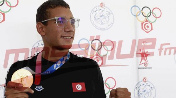 Le champion olympique Ahmed Ayoub Hafnaoui rentre au bercail