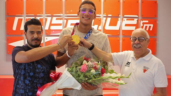 Ahmed Ayoub Hafnaoui: Je n'ai rien compris en levant la tête après la fin de la course