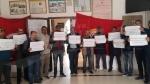 تطاوين : تواصل إعتصام الأساتذة والمعلمين  للمطالبة بتنحية  وزير التربية