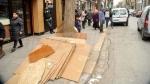 Campagne de la police municipale à la place de Barcelone