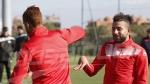 Séance d'entraînement de l'EN à Marrakech