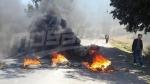 القيروان:محتجون يغلقون الطريق الرابطة بين الجنوب والشمال التونسي