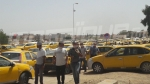 إضراب أصحاب سيارات الأجرة تاكسي بالقصرين