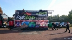 Les préparatifs avant la Techno Parade 2017 à Paris