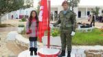 Salut du Drapeau à Bir Lahmer avec l'Armée Nationale