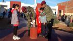 بمشاركة عناصر من الجيش: دقيقة صمت بمدرسة الهداية بتطاوين ترحما على روح  الشهيد بن بلقاسم